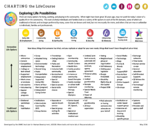 Graphic: Screenshot of Life Possibilities LifeCourse tool