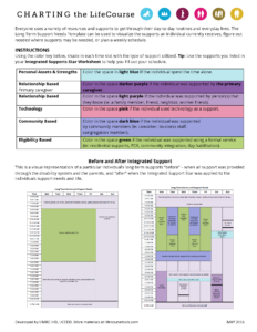 Graphic: Screenshot of Long Term Services & Supports Template, page 2