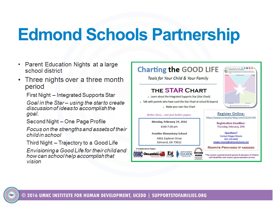 Graphic; Screenshot of OK Edmond's Schools Partnership LifeCourse in Action Innovations Series Video Clip