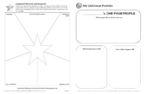 Graphic: Screenshot of My LifeCourse Portfolio in black and white | lifecoursetools.com