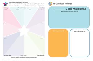 Graphic: Screenshot of My LifeCourse Portfolio, expanded with a divided Integrated Star worksheet | lifecoursetools.com