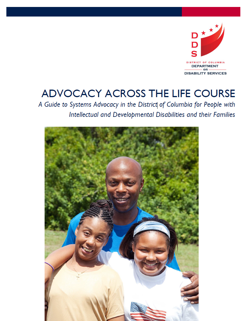 Graphic: Screenshot of cover from DC's Advocacy across the LifeCourse guide