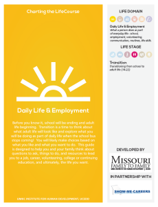 Graphic: Screenshot of the Charting the LifeCourse Daily Life & Employment guide