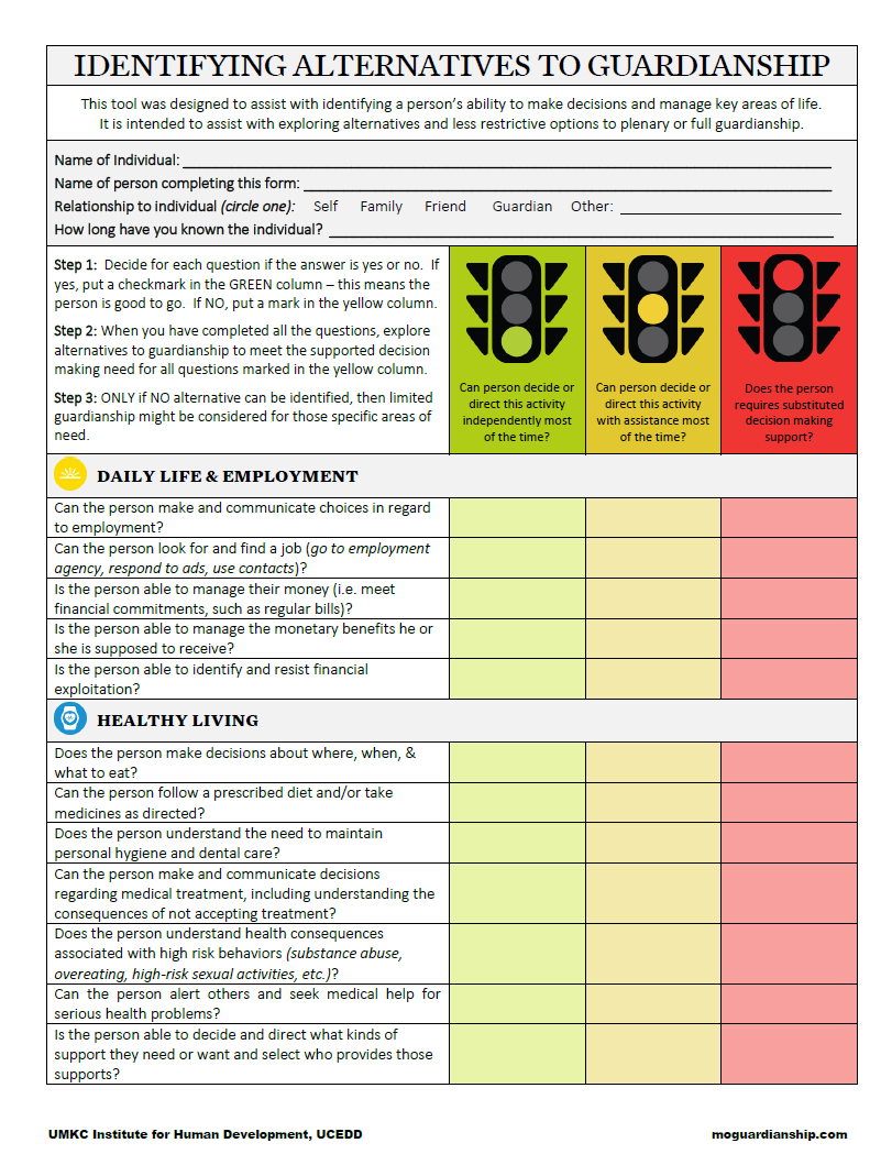"Graphic: Screenshot of MO Guardianship ""Stoplight Tool"""