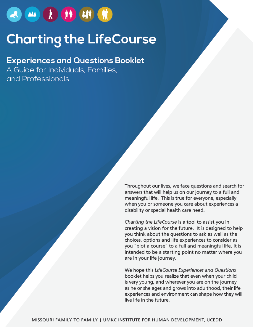 Graphic: Screenshot of Cover of LifeCourse Experiences and Questions Booklet