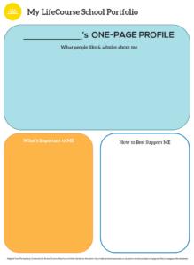Graphic: Screenshot of My LifeCourse School Portfolio